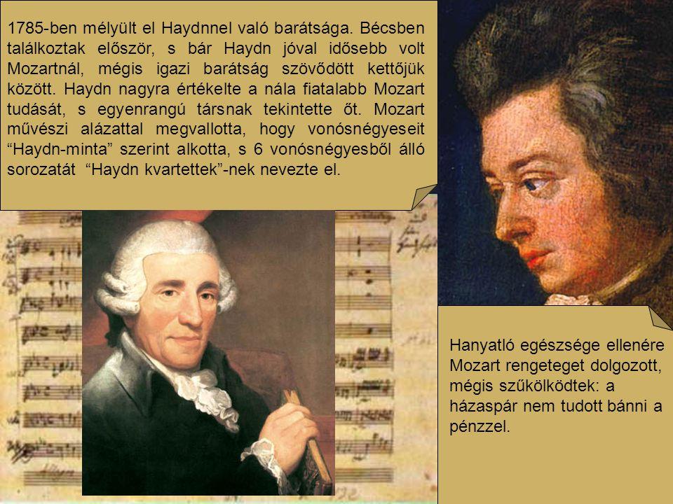 Mozart korában a zene a hivatalos és magánünnepek tartozéka volt.