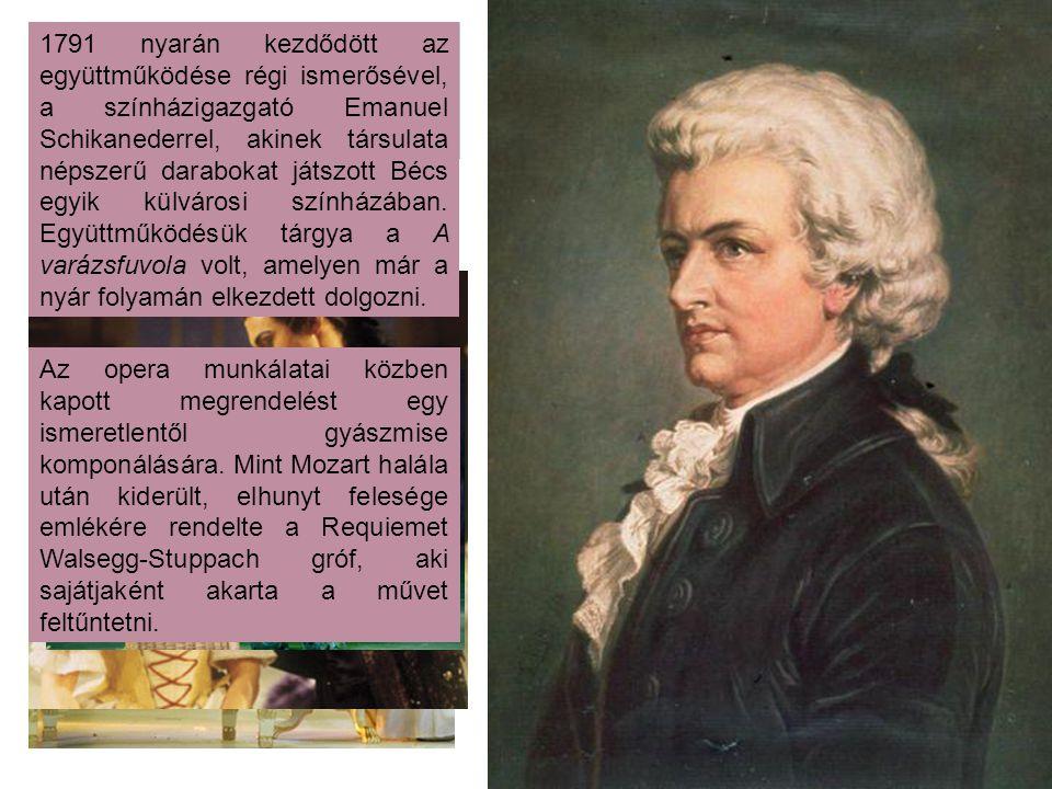 28 évesen operát írt a Figaro házassága c. darabhoz. Mozart egész Európát meghódította ezzel a művével. 29 éves, amikor újabb operát ír Don Giovanni c