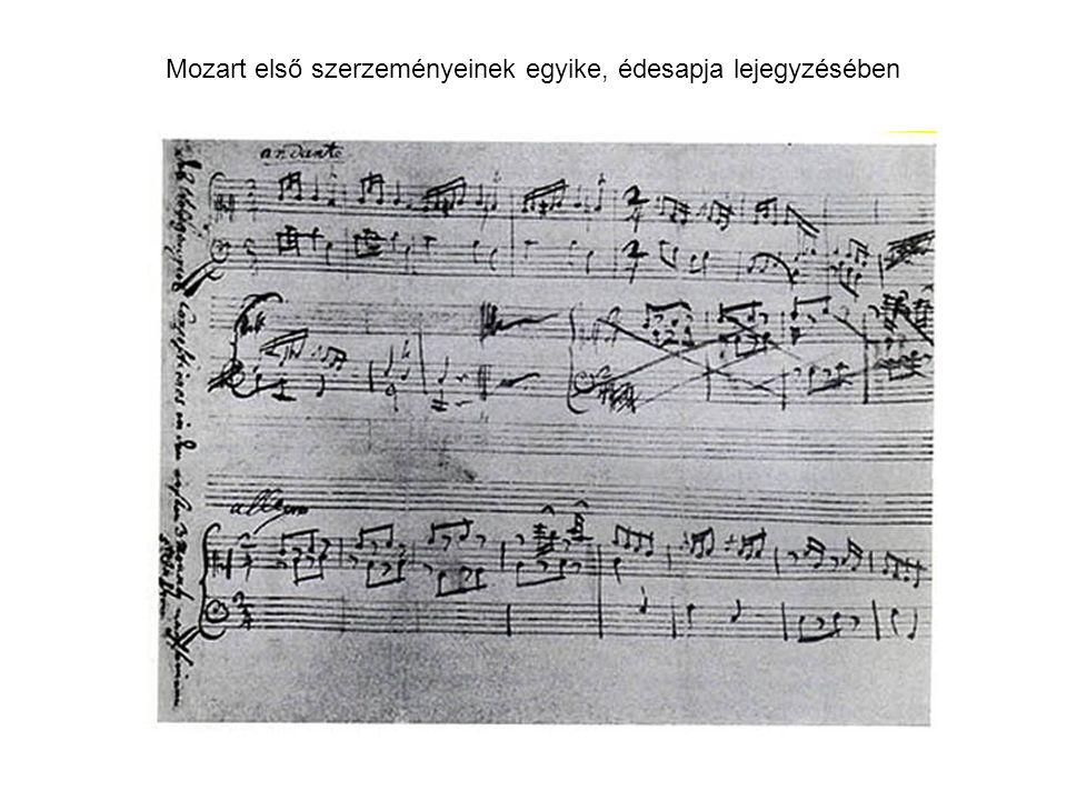 Mozart első szerzeményeinek egyike, édesapja lejegyzésében