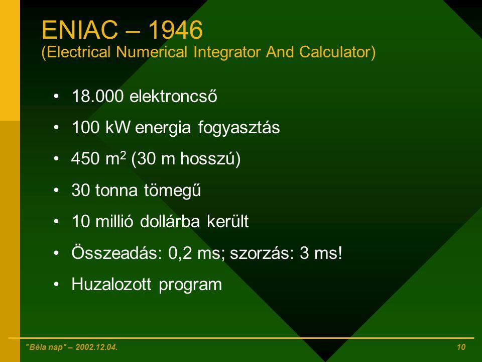 Béla nap – 2002.12.04.