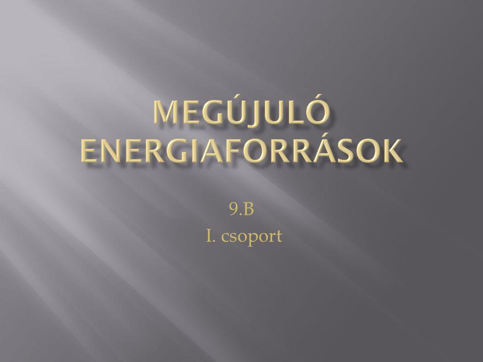 Előnyök:  A szélenergia tejesen környezetbarát, mert nincs szükség fosszilis energiahordozók égetésére ahhoz, hogy elektromosságot generáljon a szél erejéből.