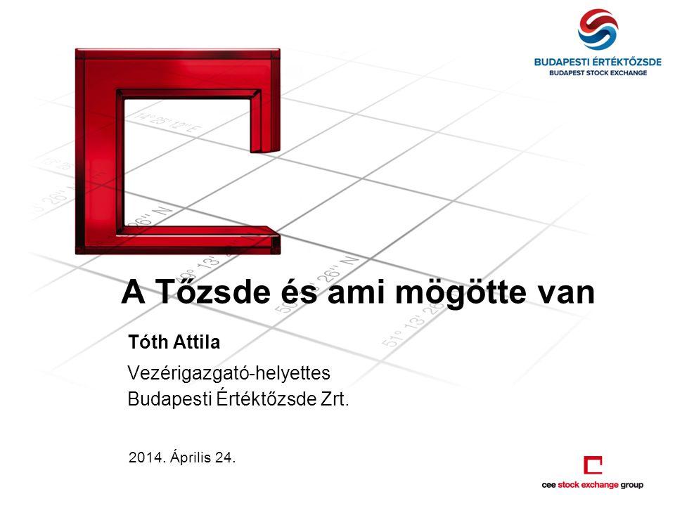 A Tőzsde és ami mögötte van Tóth Attila Vezérigazgató-helyettes Budapesti Értéktőzsde Zrt.