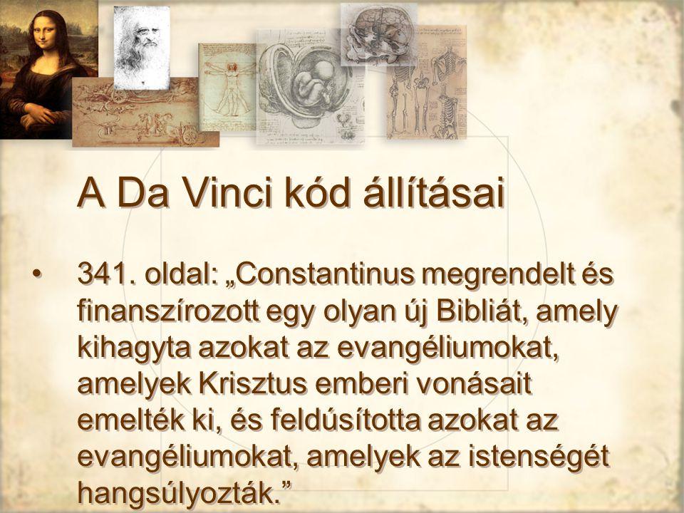 A Da Vinci kód állításai 341.