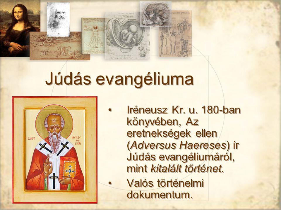 Júdás evangéliuma Iréneusz Kr.u.