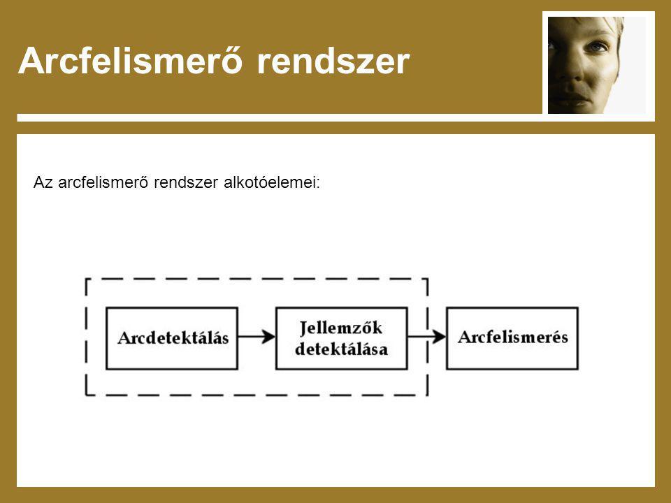 Az arcfelismerő rendszer alkotóelemei: Arcfelismerő rendszer