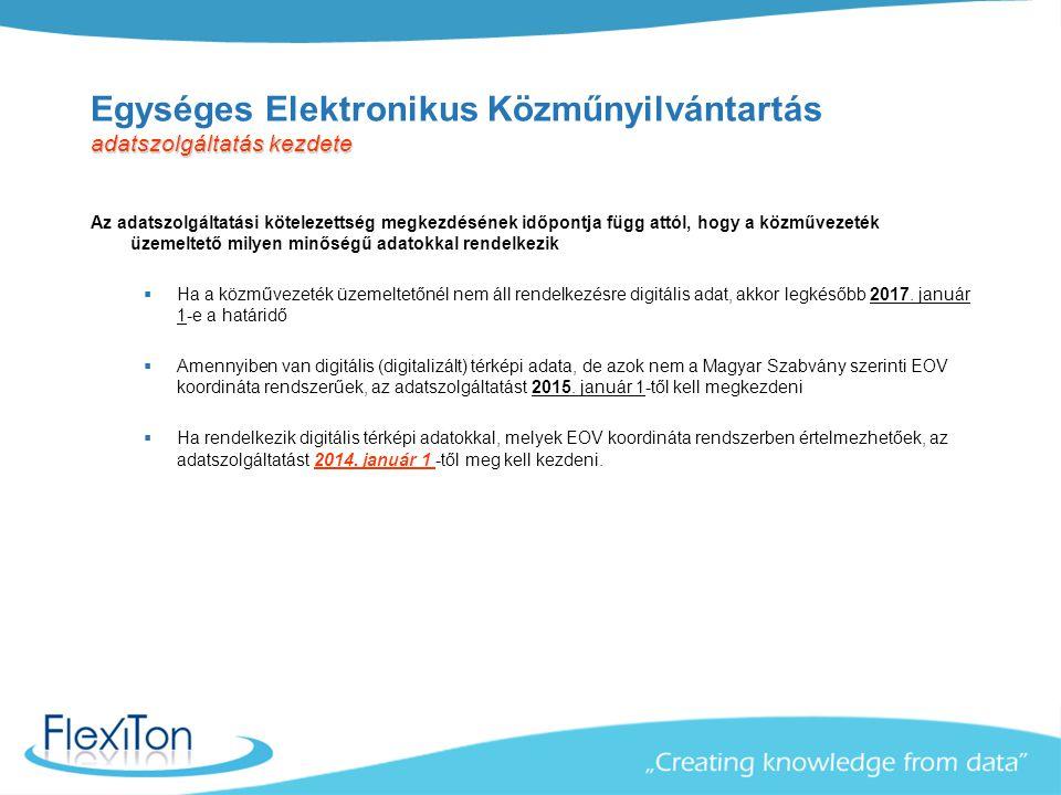adatszolgáltatás kezdete Egységes Elektronikus Közműnyilvántartás adatszolgáltatás kezdete Az adatszolgáltatási kötelezettség megkezdésének időpontja