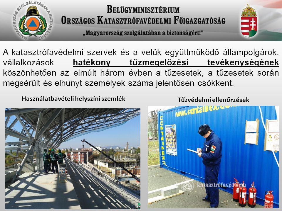 A katasztrófavédelmi szervek és a velük együttműködő állampolgárok, vállalkozások hatékony tűzmegelőzési tevékenységének köszönhetően az elmúlt három