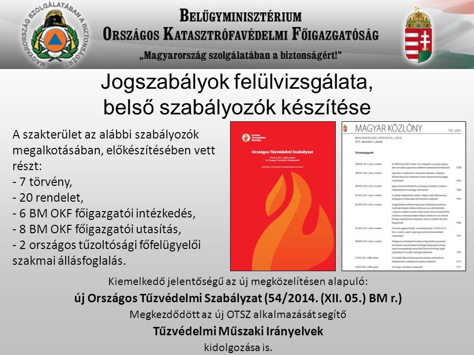 Tűzvédelmi hatósági, szakhatósági, tűzmegelőzési tevékenység 2014-ben a hivatásos katasztrófavédelmi szervek lefolytattak: - 28.759 elsőfokú tűzvédelmi szakhatósági eljárást, - 30.348 tűzvédelmi ellenőrzést, - 5.245 kéményseprő-ipari közszolgáltatással összefüggő ellenőrzést, - 386 tűzvédelmi szolgáltatás felügyeleti ellenőrzést és 815 eljárást, - 1022 piacfelügyeleti ellenőrzést, melyek alapján 26 eljárás indult.