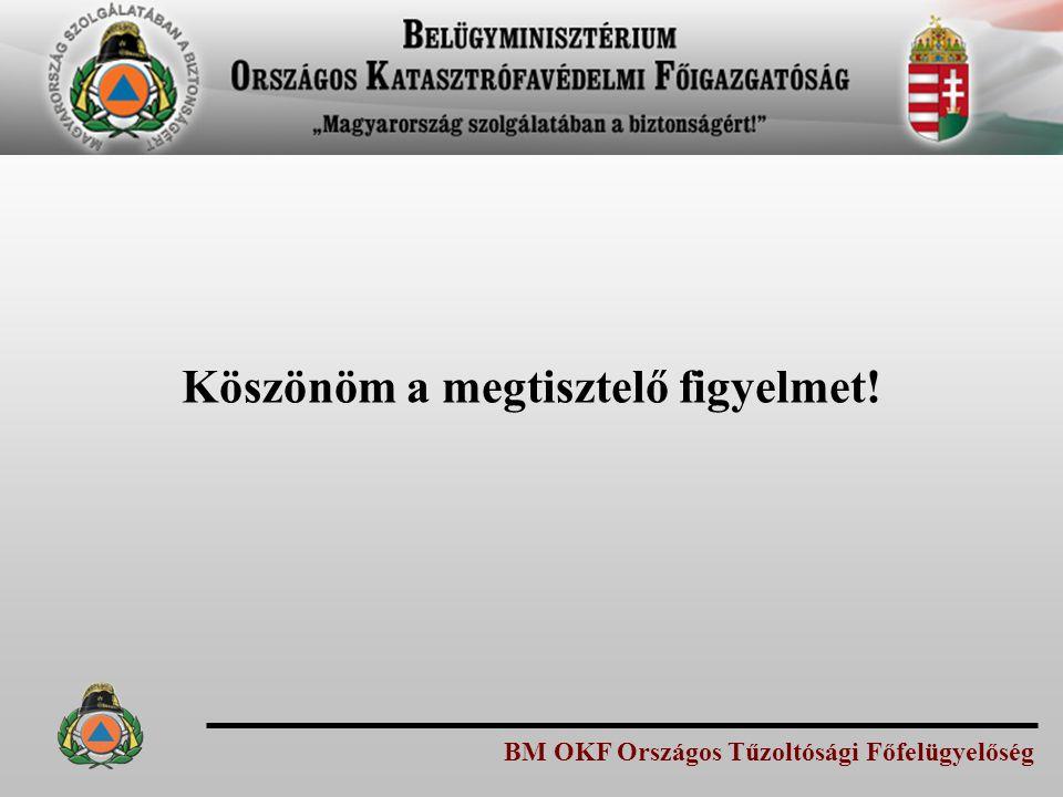BM OKF Országos Tűzoltósági Főfelügyelőség Köszönöm a megtisztelő figyelmet!