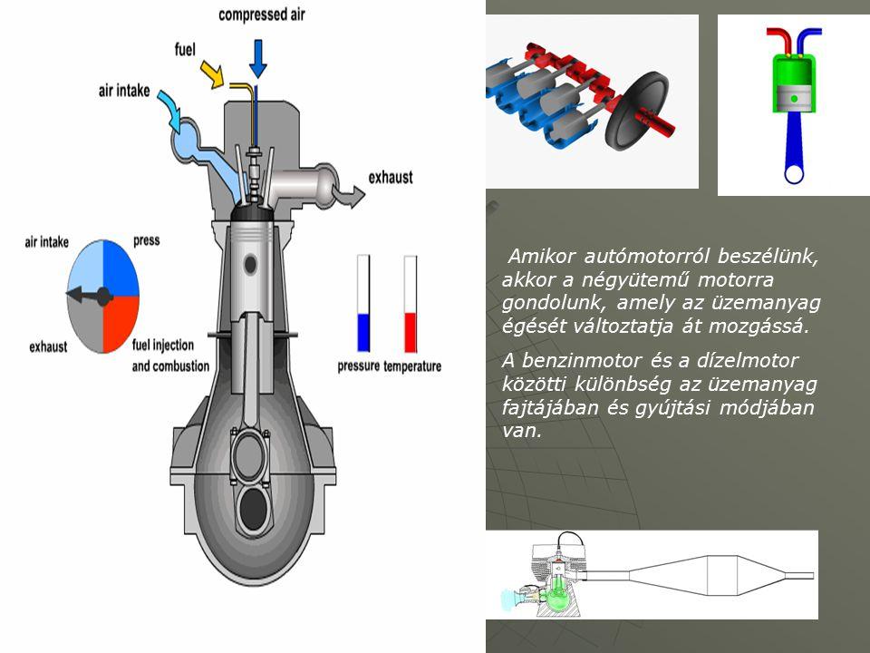 Amikor autómotorról beszélünk, akkor a négyütemű motorra gondolunk, amely az üzemanyag égését változtatja át mozgássá.