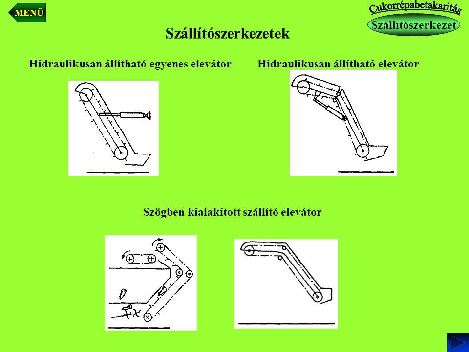 Szállítószerkezetek Hidraulikusan állítható egyenes elevátorHidraulikusan állítható elevátor Szögben kialakított szállító elevátor Szállítószerkezet M