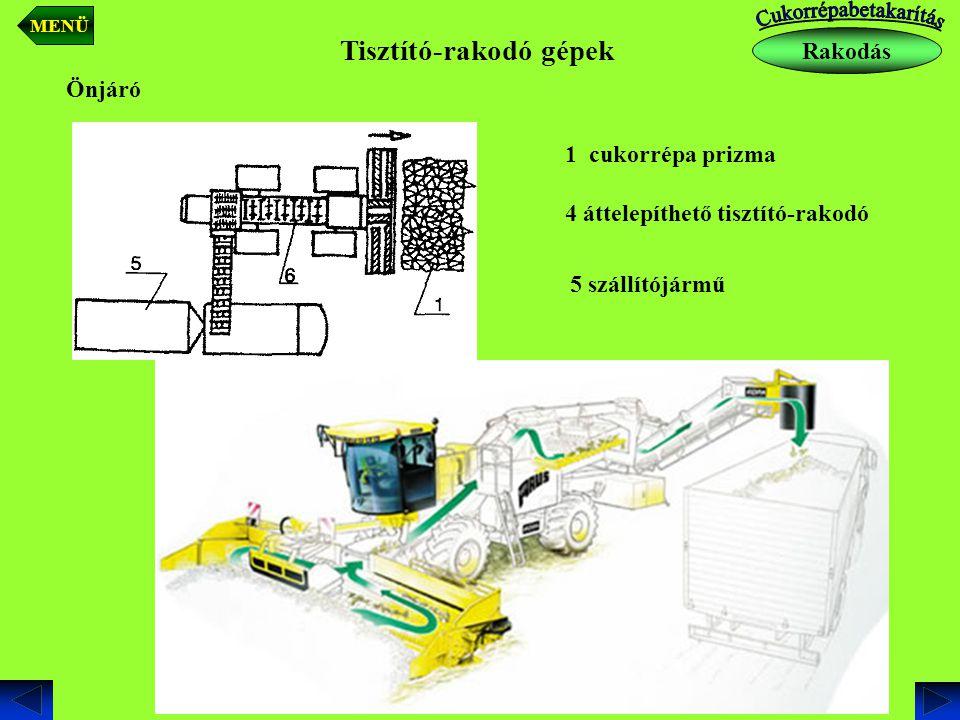 Tisztító-rakodó gépek Rakodás MENÜ
