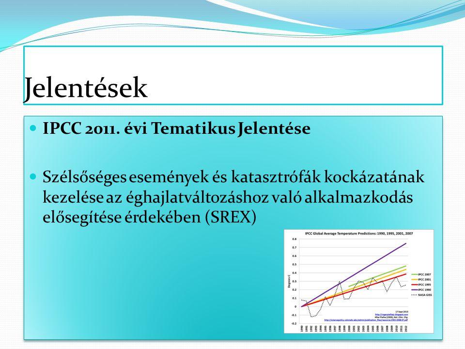 Jelentések IPCC 2011.