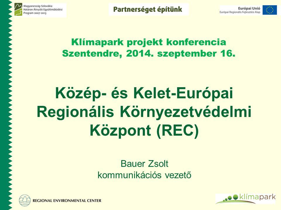 Klímapark projekt konferencia Szentendre, 2014. szeptember 16.
