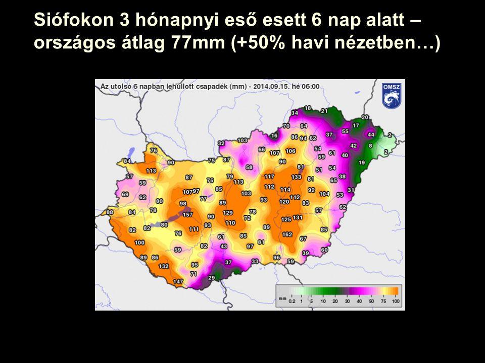 www.rec.org Siófokon 3 hónapnyi eső esett 6 nap alatt – országos átlag 77mm (+50% havi nézetben…)