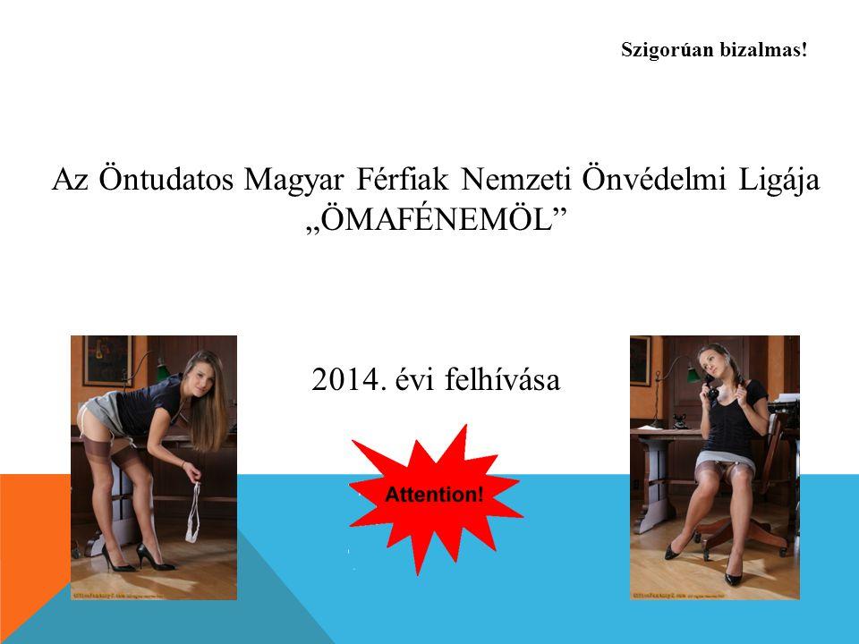"""Az Öntudatos Magyar Férfiak Nemzeti Önvédelmi Ligája """"ÖMAFÉNEMÖL 2014."""