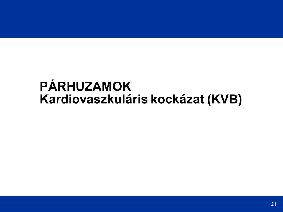 21 PÁRHUZAMOK Kardiovaszkuláris kockázat (KVB)