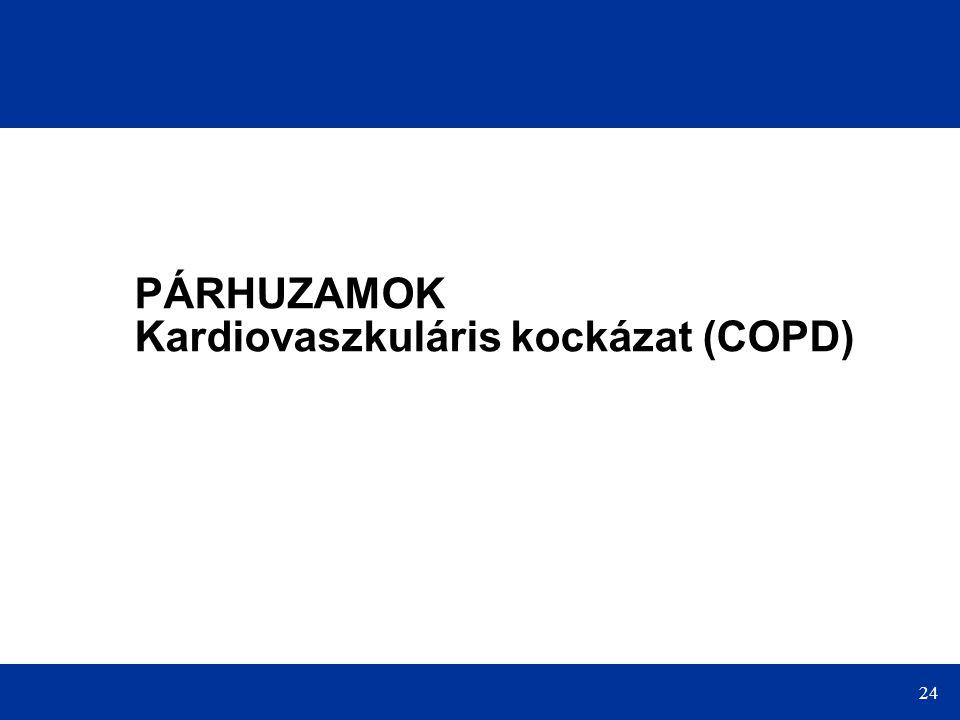 24 PÁRHUZAMOK Kardiovaszkuláris kockázat (COPD)