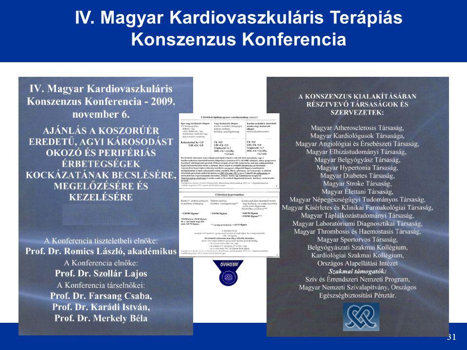 31 IV. Magyar Kardiovaszkuláris Terápiás Konszenzus Konferencia