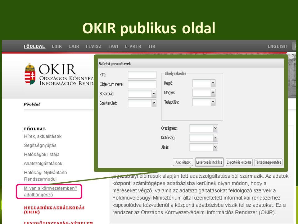 OKIR publikus oldal