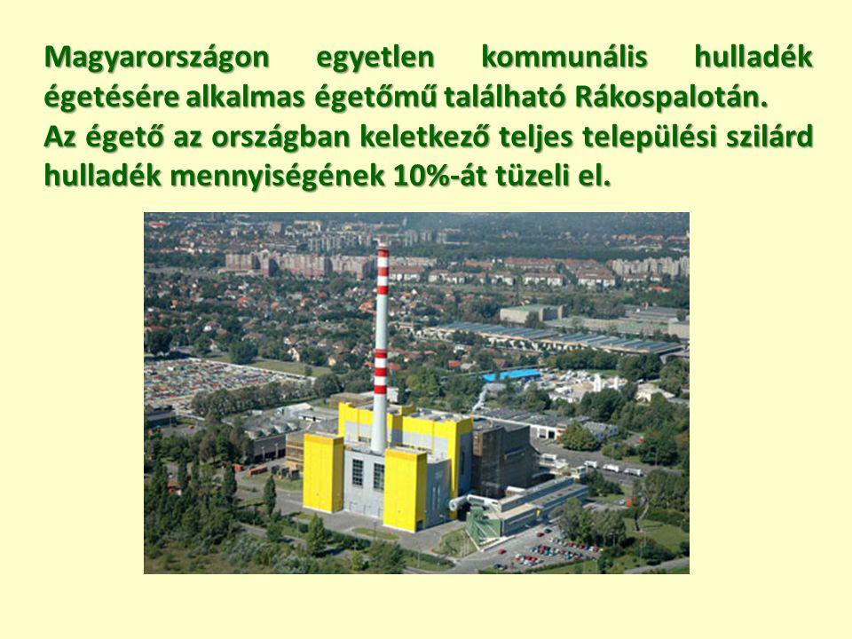 Magyarországon egyetlen kommunális hulladék égetésére alkalmas égetőmű található Rákospalotán. Az égető az országban keletkező teljes települési szilá