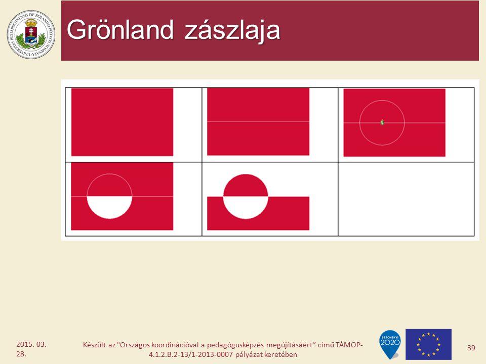 Grönland zászlaja Készült az