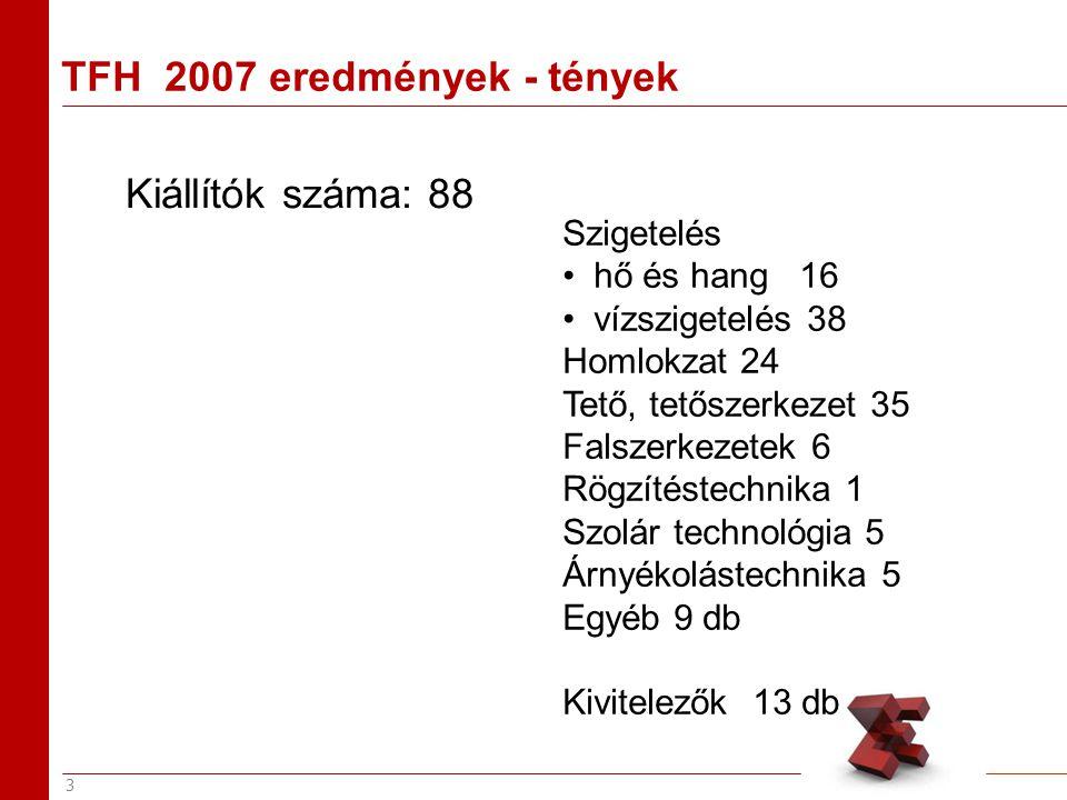 4 TFH 2007 eredmények - tények Konferencia résztvevők száma : Villas V.