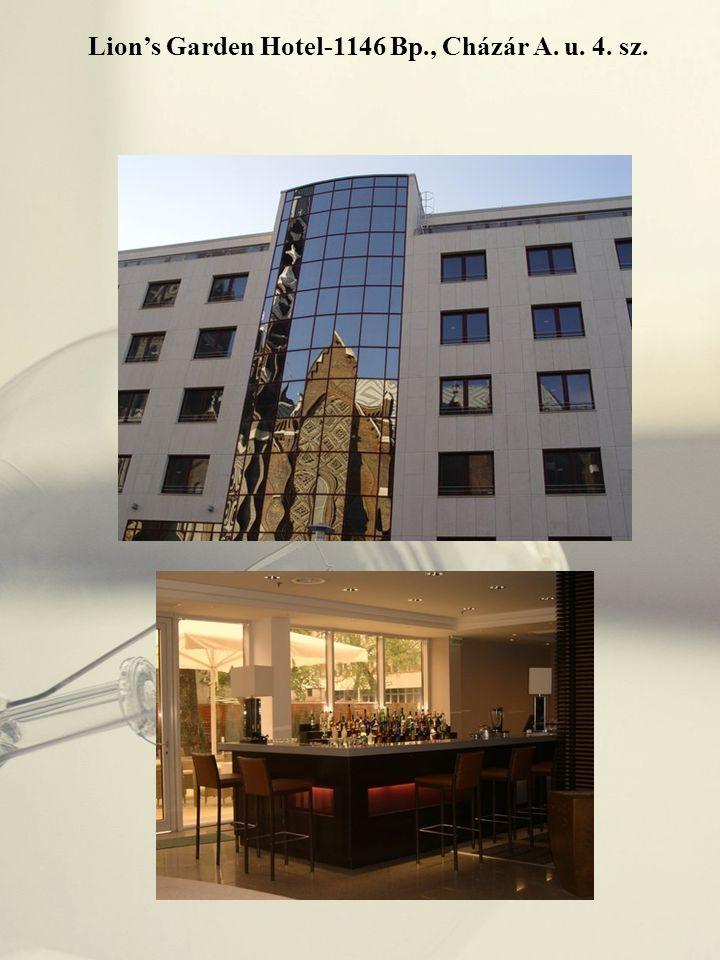 Lion's Garden Hotel-1146 Bp., Cházár A. u. 4. sz.
