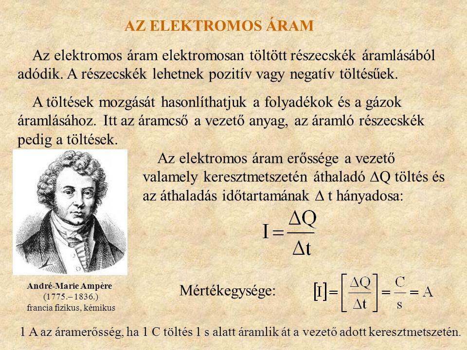 Az elektromos áram elektromosan töltött részecskék áramlásából adódik. A részecskék lehetnek pozitív vagy negatív töltésűek. A töltések mozgását hason