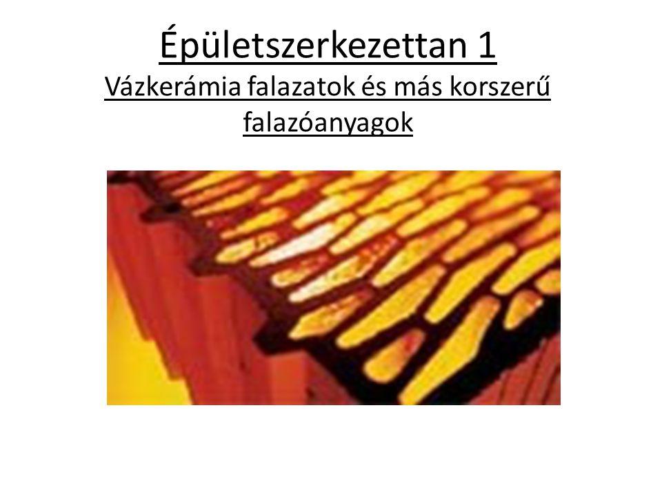 Porotherm falazatok A Porotherm falazati rendszer jobb áttekinthetősége érdekében három különböző módon alkothatunk csoportokat: 1.