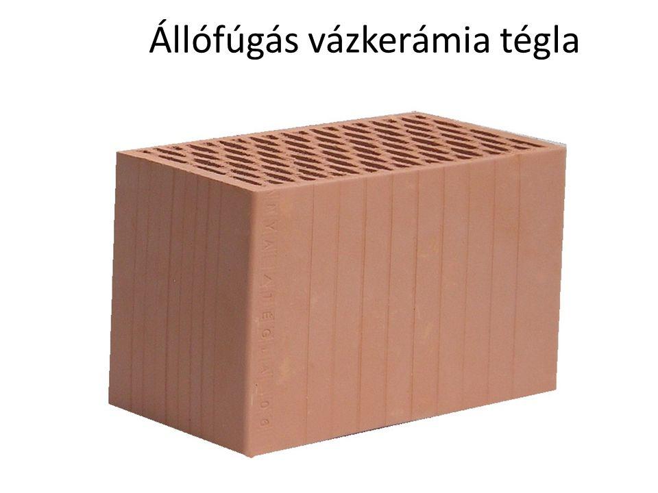 Nútféderes vázkerámia tégla:(hagyományos habarcsos- nem csiszolt és vékony habarcsos/ragasztóhabos – csiszolt felület)