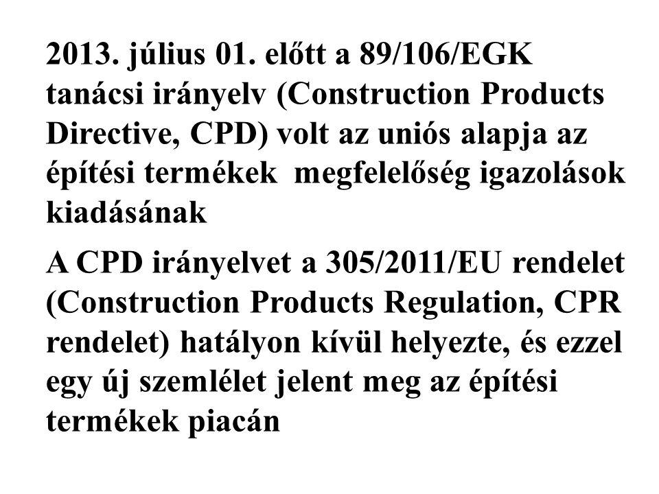 CPD rendelet alapján Vizsgálati jegyzőkönyv ÉME TMI