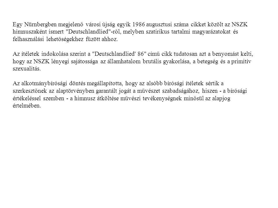 Alkománybíróság ( 20/1997.AB határozat) A 20/1997.