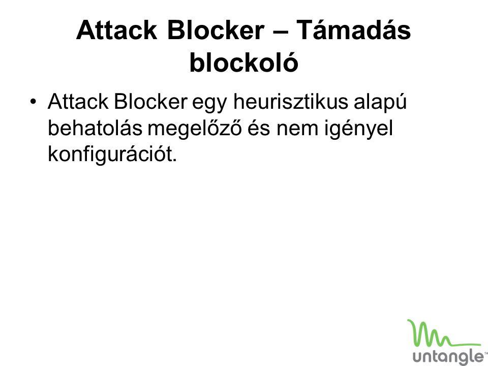 Attack Blocker – Támadás blockoló Attack Blocker egy heurisztikus alapú behatolás megelőző és nem igényel konfigurációt.