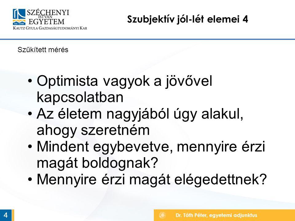 Szubjektív jól-lét elemei 4 Dr.