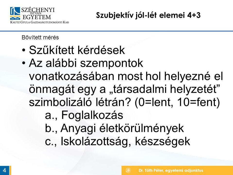 Szubjektív jól-lét elemei 4+3 Dr.
