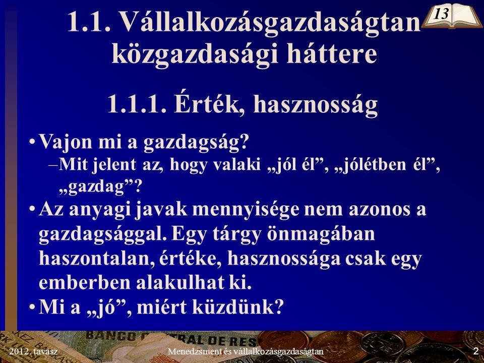 2012. tavasz2Menedzsment és vállalkozásgazdaságtan 1.1.