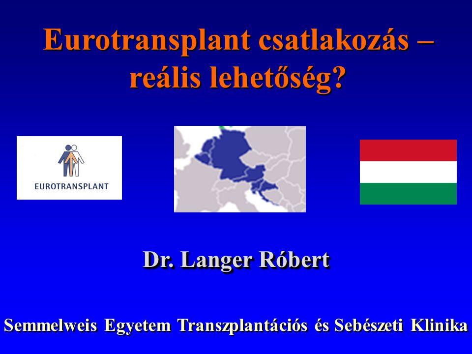 Eurotransplant csatlakozás – reális lehetőség.Dr.