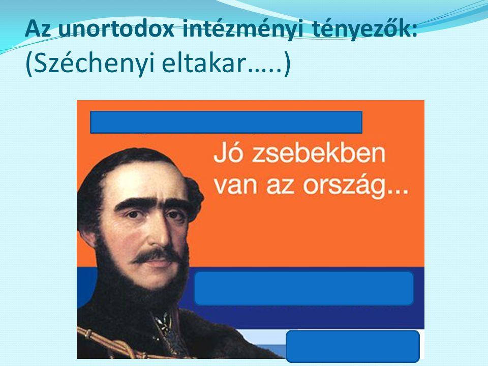 Az unortodox intézményi tényezők: (Széchenyi eltakar…..)