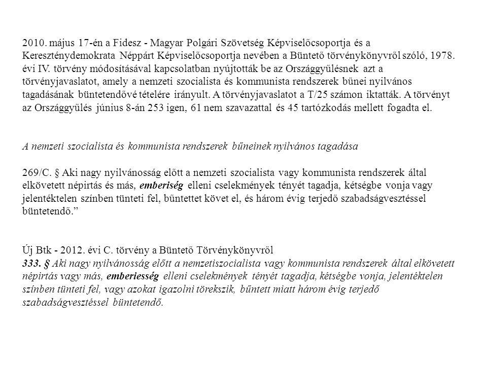 2013.május A Jobbik parlamenti képviselője, Dr.