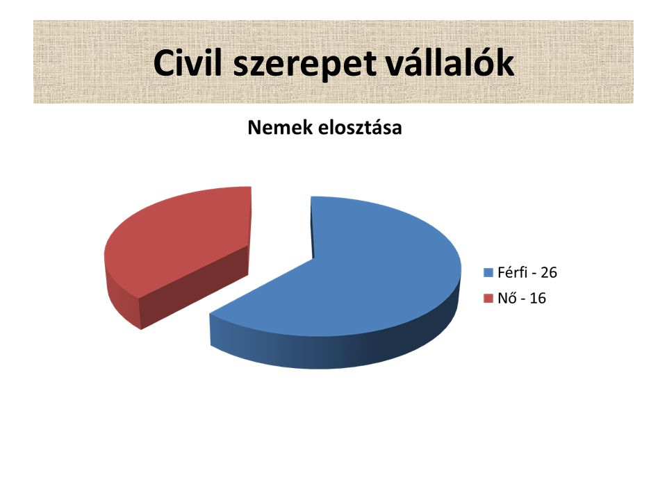 Civil szerepet vállalók