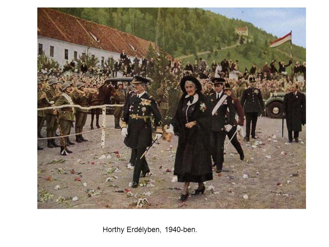 Horthy Erdélyben, 1940-ben.
