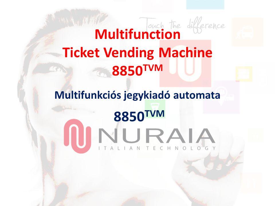 Multifunction Ticket Vending Machine 8850 TVM Multifunkciós jegykiadó automata 8850 TVM