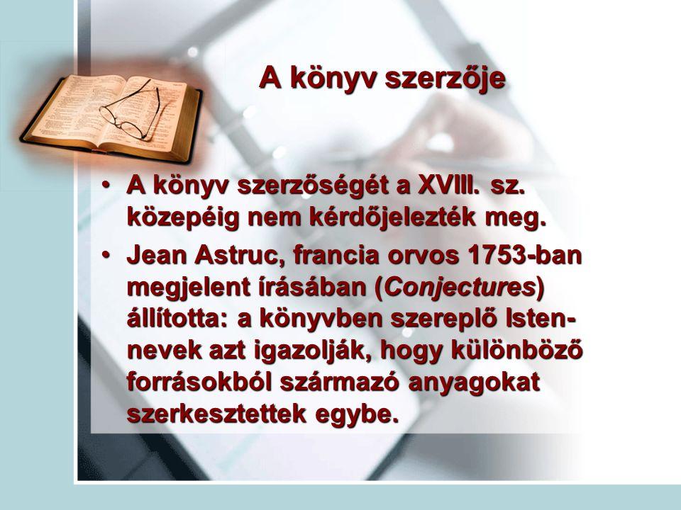A könyv szerzője A könyv szerzőségét a XVIII. sz. közepéig nem kérdőjelezték meg.A könyv szerzőségét a XVIII. sz. közepéig nem kérdőjelezték meg. Jean