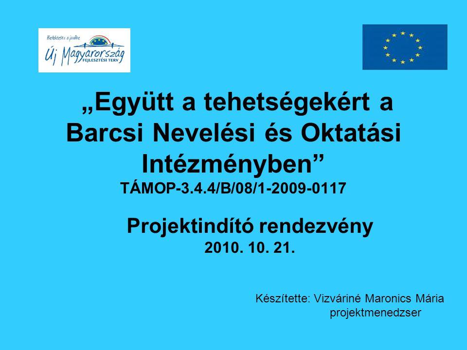 Tehetséges fiatalok önszerveződése Előadói díjak: - XV: Méta fesztivál 5 fő - Együd Árpád emlékverseny 5 fő Nevezési Díjak Tanulmányi versenyekre: 235 fő