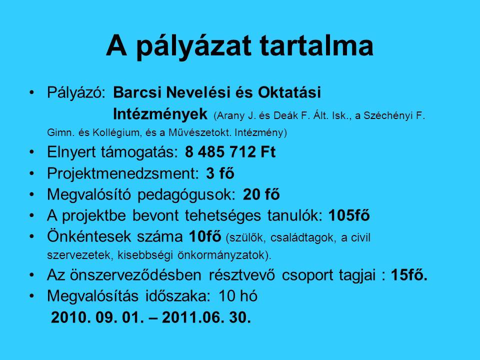 Együttműködés Tehetségpontokkal Tehetségsegítő Tanácsokkal KE PTSZI Szülőkkel Fenntartóval Kisebbségi Önkormányzatokkal (német, horvát, CKÖ)