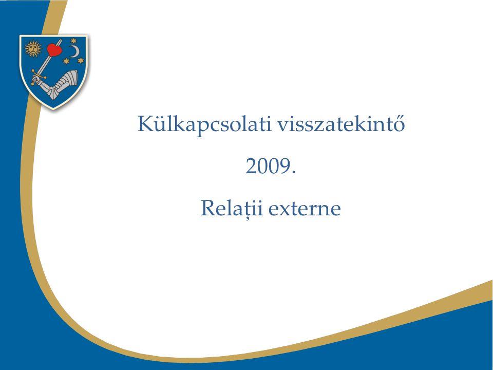 Külkapcsolati visszatekintő 2009. Relaţii externe