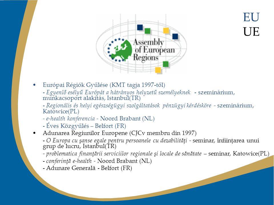 EU UE Európai Régiók Gyűlése (KMT tagja 1997-től) - Egyenlő esélyű Európát a hátrányos helyzetű személyeknek - szeminárium, munkacsoport alakítás, Ist