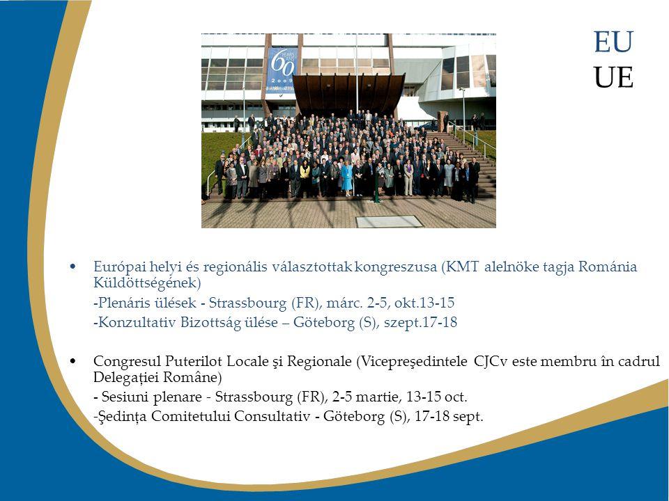 EU UE Európai helyi és regionális választottak kongreszusa (KMT alelnöke tagja Románia Küldöttségének) -Plenáris ülések - Strassbourg (FR), márc. 2-5,