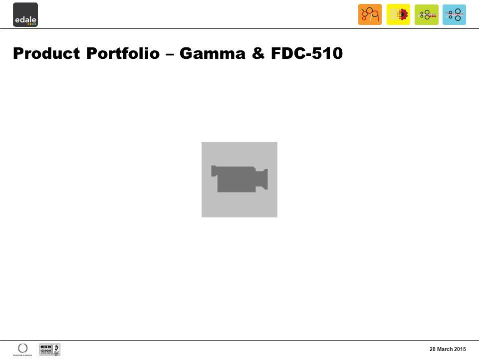 Product Portfolio – Gamma & FDC-510 28 March 2015